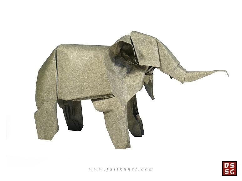 Origami Elefant von Rudolf Deeg